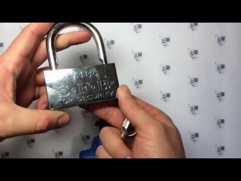 Вытягивание цилиндра --   Как взломать навесной замок EXTRA Top Security (Взлом навесных замков типа EXTRA Top Security отверткой.