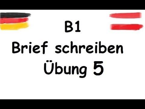 B1 Brief Schreiben B1 نامه امتحان آلمانی به فارسی Youtube