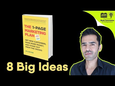 1 Page Marketing Plan - Book Summary and Review | Ideas from 1 Page Marketing Plan by Allan Dibs