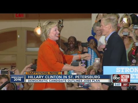 Hillary Clinton outlines jobs plan at St. Petersburg rally Monday
