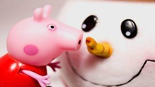 Свинка Пеппа на русском новые серии. СНЕГ и домик. Peppa Pig.