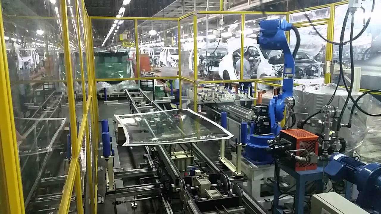 Windshield Sealer Robot System Youtube