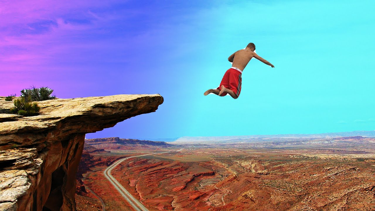 Image result for jump off a cliff