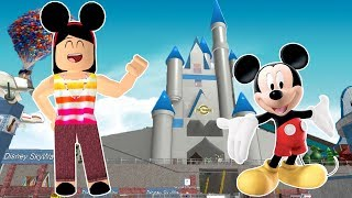 TIA GRAÇA WENT TO DISNEY AT ROBLOX!! (DISNEY WORLD ULTIMATE THEME PARK)