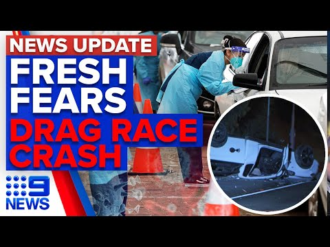 New cases outside Northern Beaches, driver in hospital after alleged drag racing | 9 News Australia thumbnail