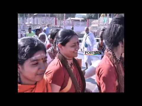 Swami Nithyananda and Ranjitha Visits Tirumala Temple