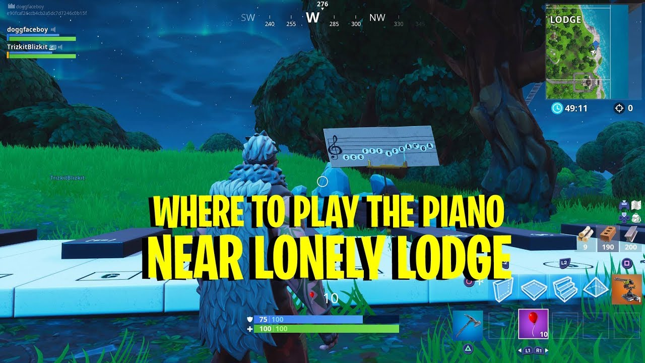 fortnite lonely lodge piano location and how to play it - piano sheet music fortnite lonely lodge