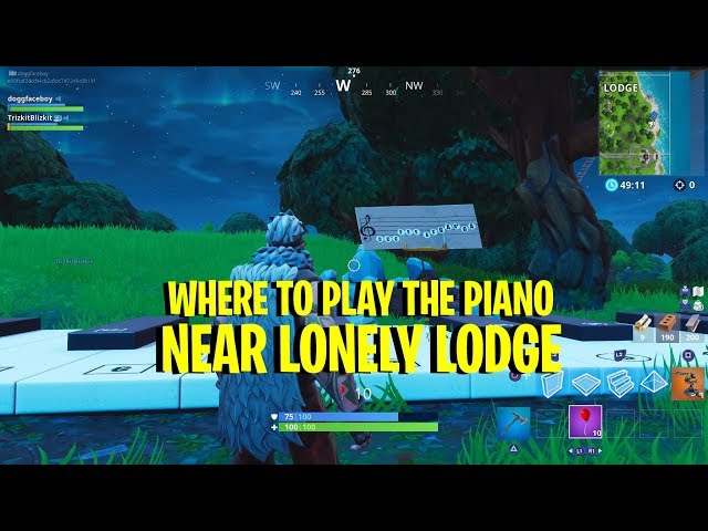 Fortnite Challenge: How To Play The Pianos At Lonely Lodge
