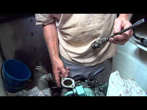 Repair to Themostat Housing Kubota V2203 Boat Engine