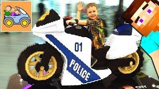 🎡 ПАРК аттракционов МАЙНКРАФТ игрушки и ОГРОМНЫЙ ЛЕГО полиция МОТОЦИКЛ Изнанка ВЛОГ