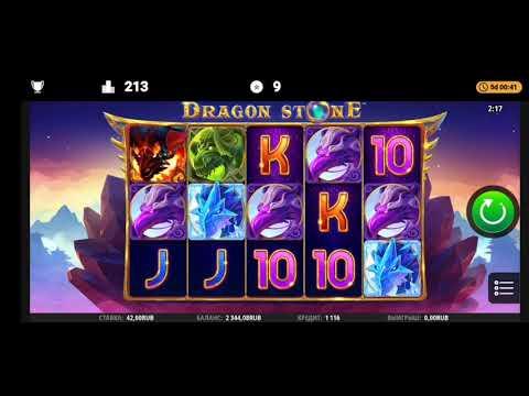 Казино Слот Dragon stone 1xbet поднял 5к x100