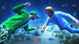 UNDERWATER FIST BATTLE CHALLENGE! (GTA 5 Funny Moments)
