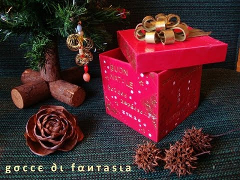 Tutorial: scatola di Natale in fimo / Christmas box made of polymer clay