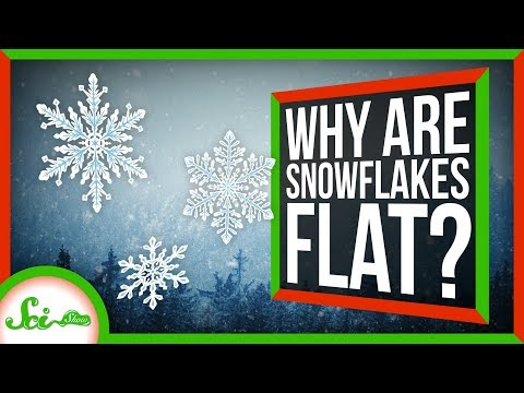 Why Are Snowflakes Flat?