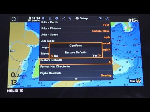 Humminbird HELIX How to Restore Defaults