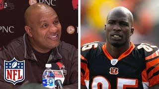 "Hue Jackson Talks About Chad ""Ochocinco"" Johnson's Role at Training Camp | NFL"