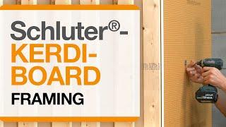 Schluter®-KERDI-BOARD over Framing