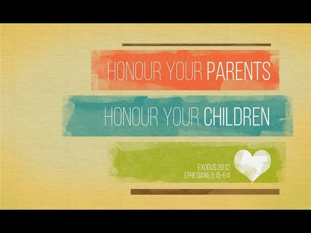 May 12th, 2019: David Chotka - Honour Your Parents, Honour Your Children