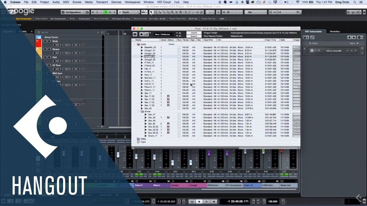 Audio Pool And A Quick Method To Minimize Breaths On A Vocal Recording Club Cubase With Greg Ondo Youtube