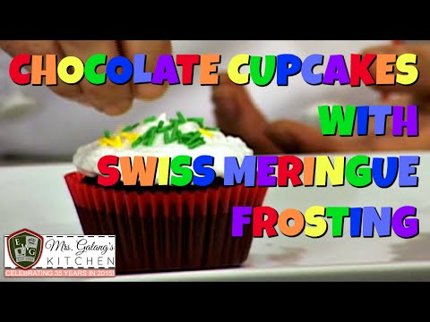 CHOCOLATE CUPCAKES with SWISS MERINGUE FROSTING (Mrs. Galang's Kitchen S2 Ep7)
