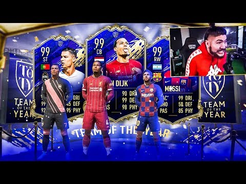 OMG I PACKED A 99 TOTY!! MY BEST TOTY!! FIFA 20