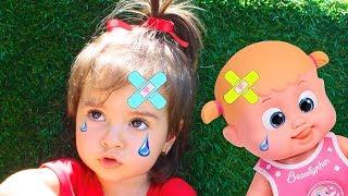 Boo boo story from Ari | Ребёнок лечит бэби бон!