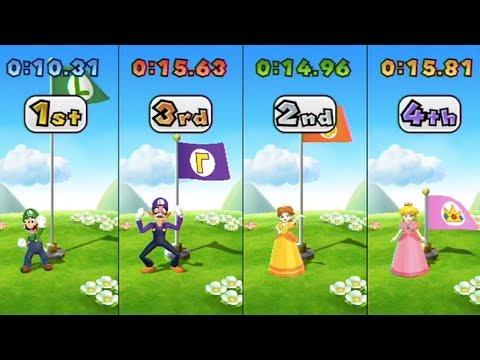 Mario Party 9 - All Funny Minigames (Luigi Gameplay)   MarioGamers