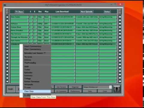 MyTvShowOrganizer - Torrent Episode Downloader.