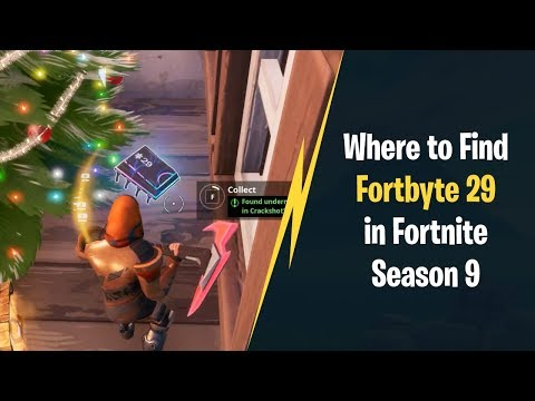 Where to Find Fortbyte 29 in Fortnite Season 9