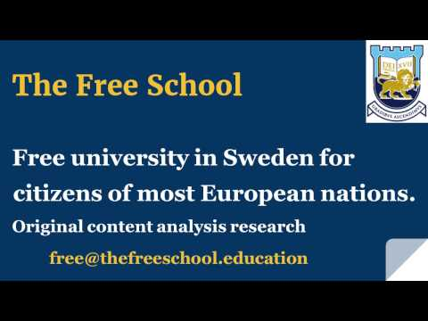 Sweden : free university for citizens of most European countries