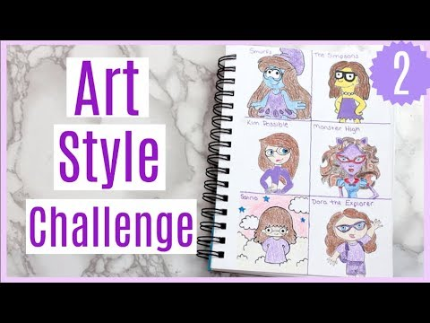 Art Style Challenge Part 2! Drawing myself in 6 different cartoon styles!
