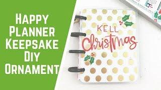 Happy Planner Keepsake DIY Ornament