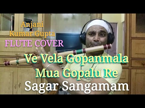 Ve Vela Gopanmala,Mua Gopalu Re,Ma Muddu Govinddu Re,Sagar Sangamam movie,Song flute cover