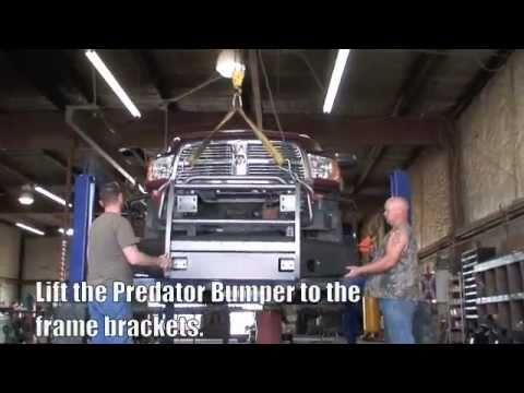 pierce ps winch install on a predator bumper