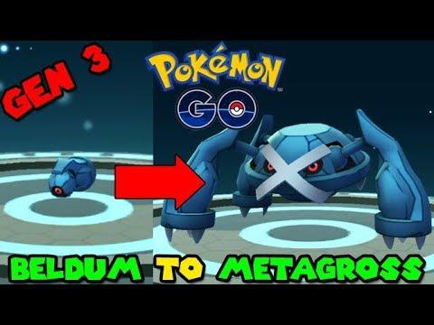 Evolving BELDUM to METAGROSS - Pokemon GO GEN 3 - YouTube