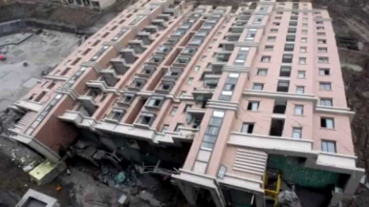 2013 China Building Collapse Shanghai Youtube