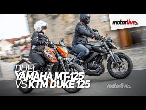DUEL   YAMAHA MT-125 vs KTM Duke 125 ABS - Passionnantes !