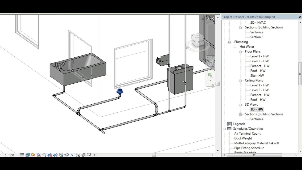 Revit Hvac Plumbing Mep Youtube 3d Drawing Images
