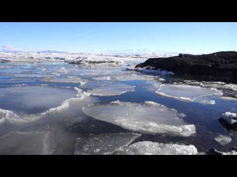 Moving ice at McMurdo Sound, Antarctica