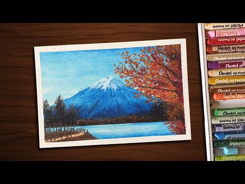 how-to-draw-mt.-fuji-with-oil-pastels-for-beginners---step-by-step