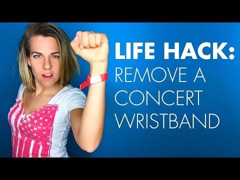 Life Hack: Remove a Concert Wristband