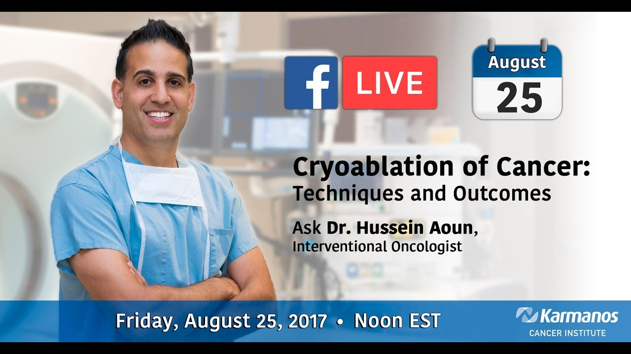 Facebook Live with Dr. Hussein Aoun - Cryoablation of Cancer video thumbnail