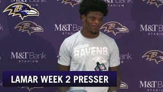 Lamar Jackson Discusses Week 2 Win over Cardinals | Baltimore Ravens