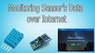 Monitoring Sensor's Data over Internet