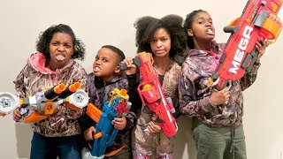 NERF Obstacle Course - Toy Game Challenge - Onyx Adventures