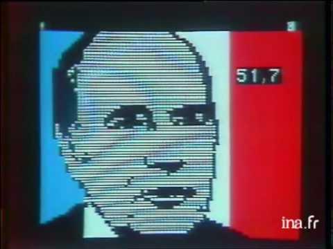 Election présidentielle Française 1981, annonce résultat