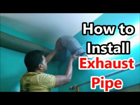 How to install Extra Flexible Exhaust Pipe to a Kitchen Chimney