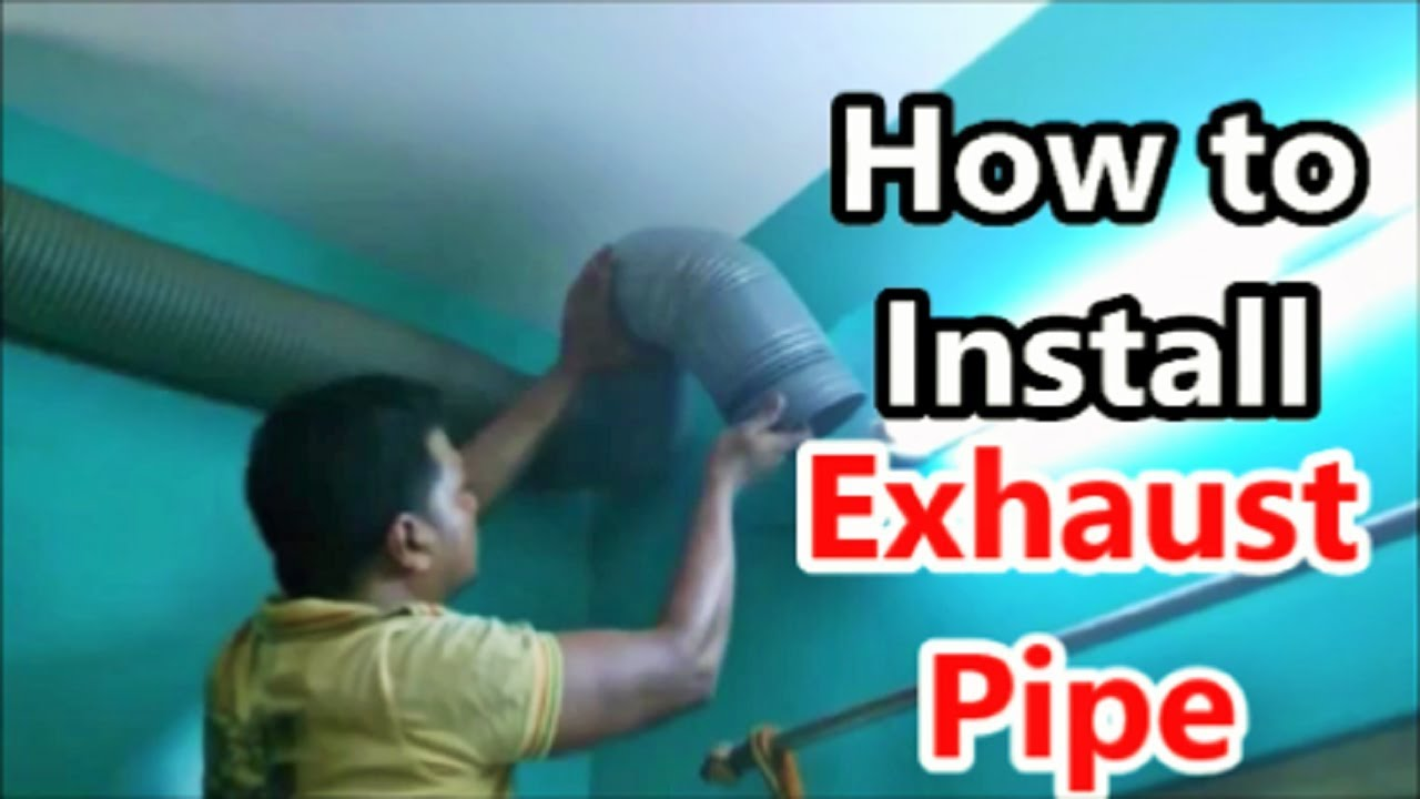 How to install Extra Flexible Exhaust Pipe to a Kitchen Chimney ...