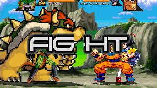 Mugen Random 2v2 Semi Perfect Cell & Bowser vs Goku & Aya Shameimaru