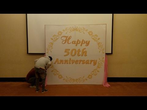50th Wedding Anniversary Decorations In Low Budget In Hyatt Place Gurgaon 09891478560